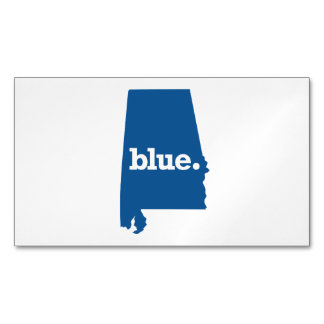 ALABAMA BLUE STATE MAGNETIC BUSINESS CARD