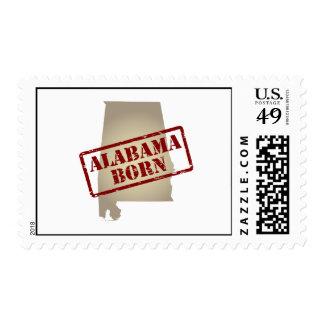 Alabama Born - Stamp on Map