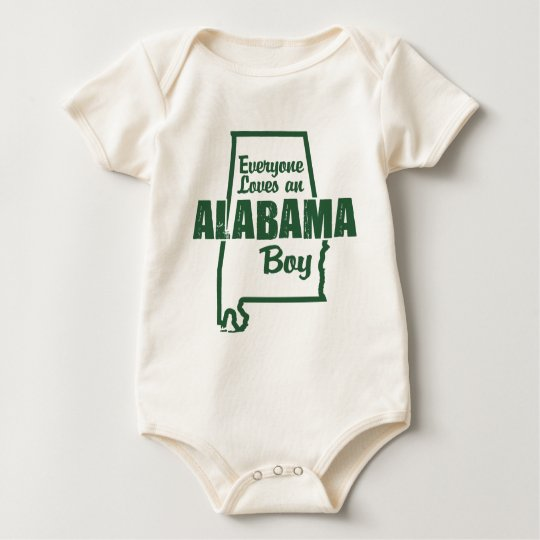 Alabama Boy Baby Bodysuit