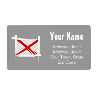 Alabama Brush Flag Label