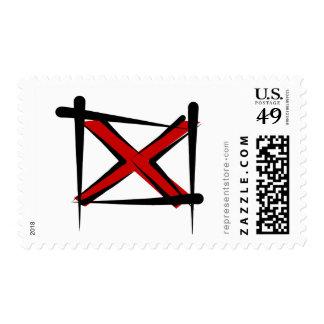 Alabama Brush Flag Stamp