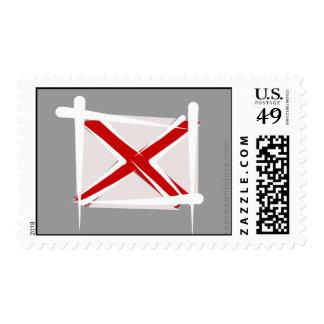 Alabama Brush Flag Postage