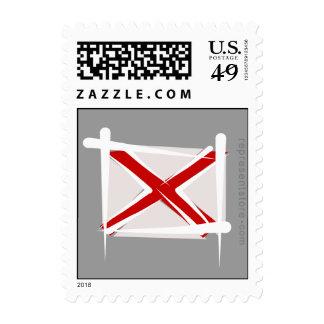 Alabama Brush Flag Stamps