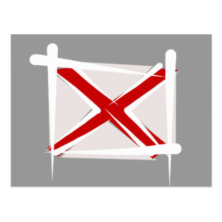 Alabama Brush Flag Postcard