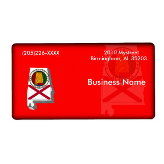 Alabama Business Label Shipping Label