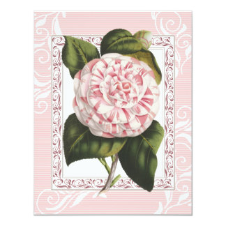 Alabama Camellia Elegant Dinner Party Invitations