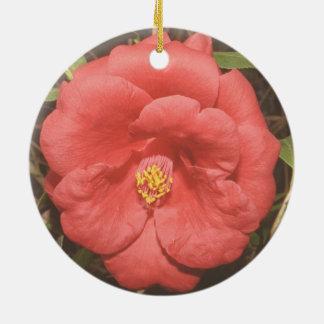 Alabama Camellia (Red) Ceramic Ornament