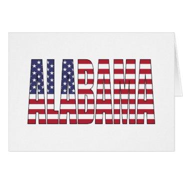 USA Themed Alabama Card