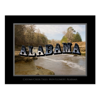 Alabama Catoma Creek Falls Montgomery Post Card
