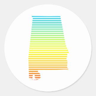 alabama chill fade classic round sticker