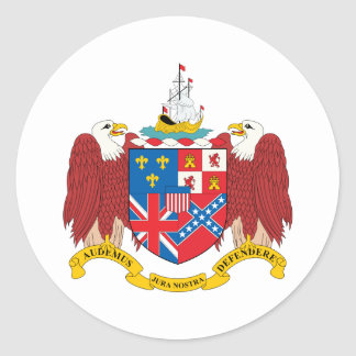 Alabama Coat Of Arms Classic Round Sticker
