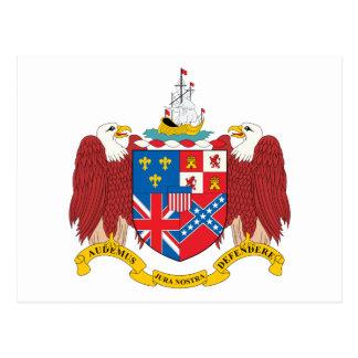 Alabama Coat Of Arms Postcard