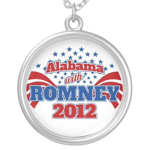 Alabama con Romney 2012 Colgante Redondo