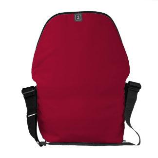 ALABAMA CRIMSON RED  (solid color background) ~ Messenger Bags