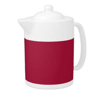 ALABAMA CRIMSON RED  (solid color background) ~ Teapot