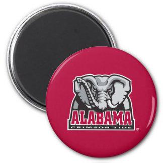 Alabama Crimson Tide Big Al 2 Inch Round Magnet