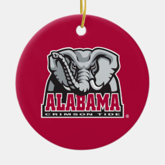 Alabama Crimson Tide Big Al Ceramic Ornament