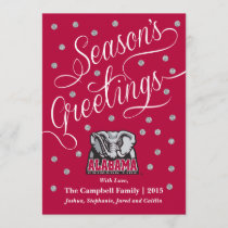 Alabama Crimson Tide Big Al Holiday Card