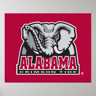 Alabama Crimson Tide Big Al Poster