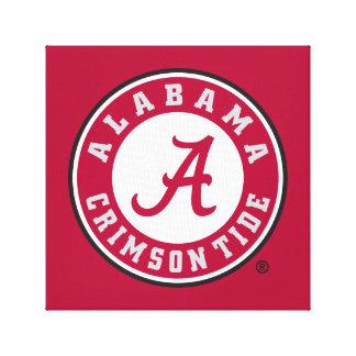 Alabama Crimson Tide Circle  Canvas Print