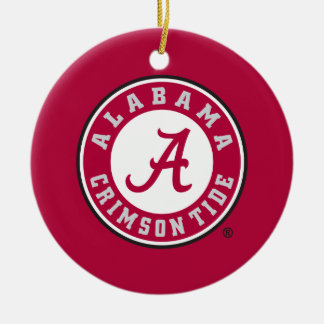 Alabama Crimson Tide Circle Ceramic Ornament