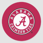 Alabama Crimson Tide Circle Classic Round Sticker