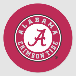 Alabama Crimson Tide Circle Classic Round Sticker