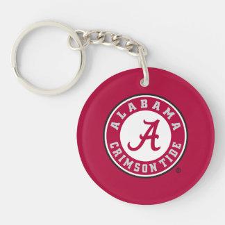 Alabama Crimson Tide Circle Double-Sided Round Acrylic Keychain