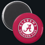 """Alabama Crimson Tide Circle Magnet<br><div class=""""desc"""">Check out these official Alabama Crimson Tide Logo products! Show your Crimson Tide pride by getting your Bama gear here.  These products will allow you to take your Alabama spirit with you wherever you go!</div>"""