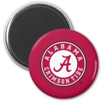 Alabama Crimson Tide Circle Magnet