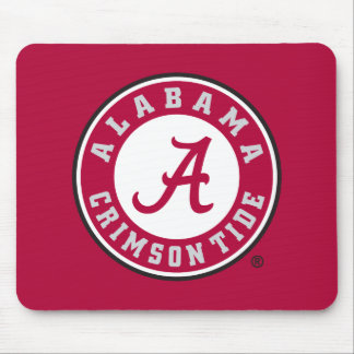 Alabama Crimson Tide Circle Mouse Pad