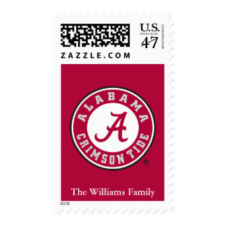 Alabama Crimson Tide Circle Postage