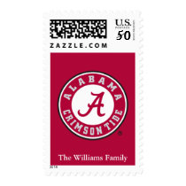 Alabama Crimson Tide Circle Postage