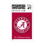 Alabama Crimson Tide Circle Postage Stamp