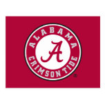 Alabama Crimson Tide Circle Postcard