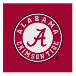 Alabama Crimson Tide Circle Poster