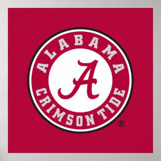 Alabama Crimson Tide Circle Poster