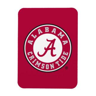 Alabama Crimson Tide Circle Rectangular Photo Magnet