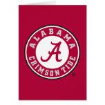 Alabama Crimson Tide Circle Stationery Note Card