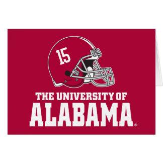 Alabama Crimson Tide Football Helmet Card