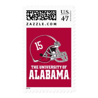 Alabama Crimson Tide Football Helmet Postage Stamp