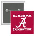 Alabama Crimson Tide Logo 2 Inch Square Button