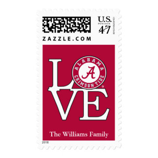 Alabama Crimson Tide Love 2 Postage