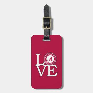 Alabama Crimson Tide Love Bag Tag