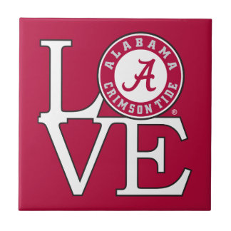 Alabama Crimson Tide Love Ceramic Tile