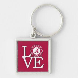 Alabama Crimson Tide Love Keychain