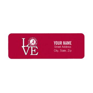 Alabama Crimson Tide Love Label