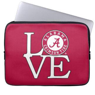 Alabama Crimson Tide Love Laptop Sleeve