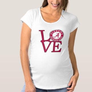 Alabama Crimson Tide Love Maternity T-Shirt
