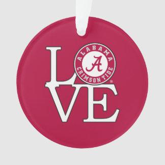 Alabama Crimson Tide Love Ornament